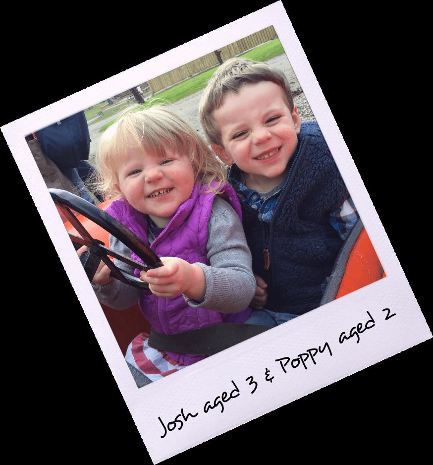 Josh aged 3 & Poppy Aged 2