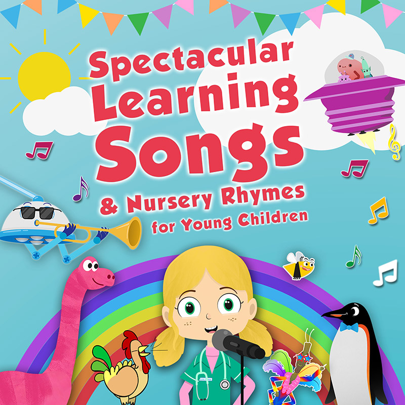 Spectacular Learning Songs and Nursery Rhymes for Young Children