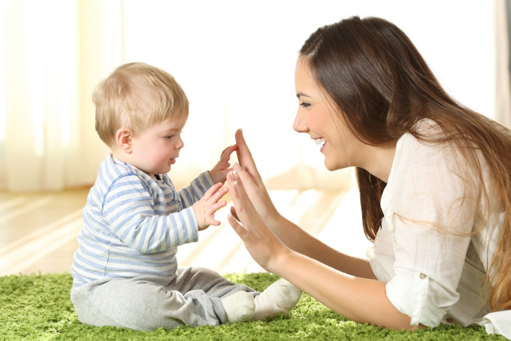 sing and play with your baby
