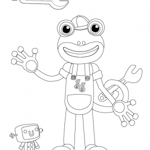 Gecko Coloring Page