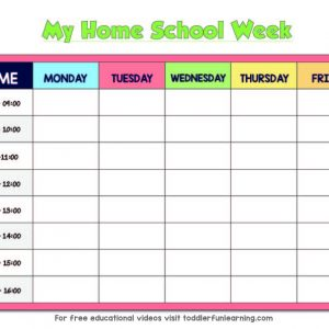 Home School Timetable download