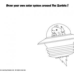 alien coloring for kids